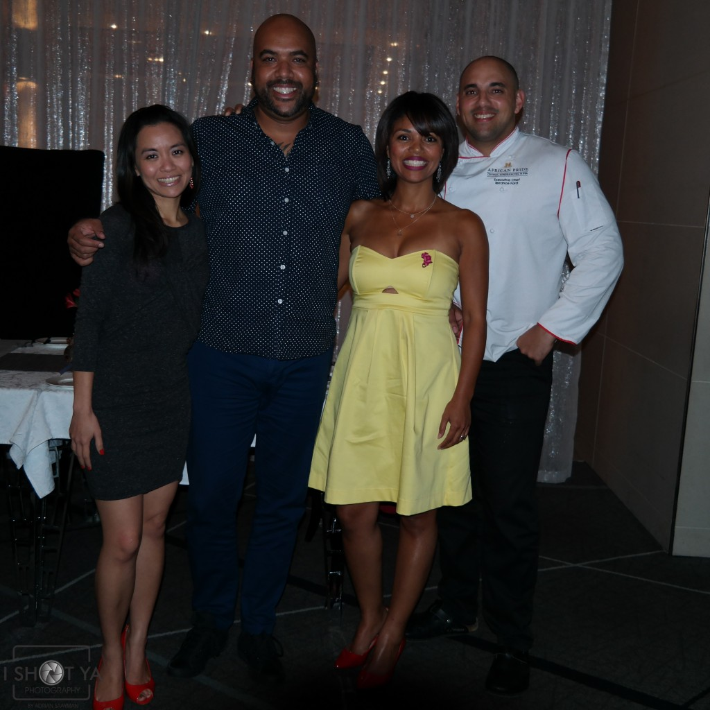 l-r: Beatrice Chan (blogger), Adrian Saayman (photographer), myself and Chef Terence Ford